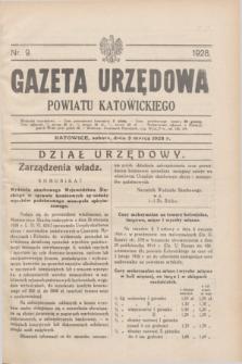Gazeta Urzędowa Powiatu Katowickiego. 1928, nr 9 (3 marca)