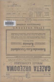Gazeta Urzędowa Powiatu Katowickiego. 1929, nr 1/2 (12 stycznia)