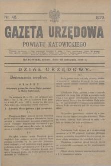 Gazeta Urzędowa Powiatu Katowickiego. 1929, nr 48 (30 listopada)