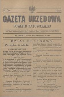 Gazeta Urzędowa Powiatu Katowickiego. 1929, nr 50 (16 grudnia)