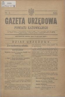 Gazeta Urzędowa Powiatu Katowickiego. 1930, nr 2 (11 stycznia 1929)