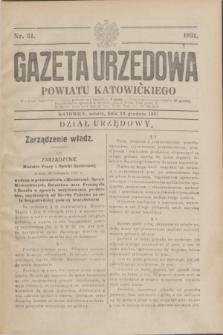 Gazeta Urzędowa Powiatu Katowickiego. 1931, nr 51 (19 grudnia)