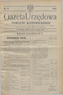 Gazeta Urzędowa Powiatu Katowickiego. 1932, nr 8 (20 lutego)