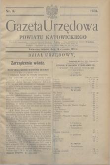 Gazeta Urzędowa Powiatu Katowickiego. 1933, nr 3 (14 stycznia)