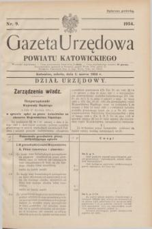 Gazeta Urzędowa Powiatu Katowickiego. 1934, nr 9 (3 marca)