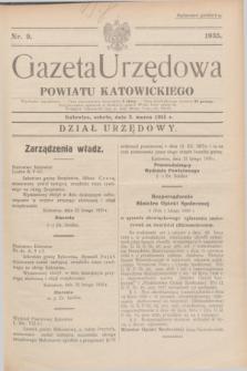Gazeta Urzędowa Powiatu Katowickiego. 1935, nr 9 (2 marca)