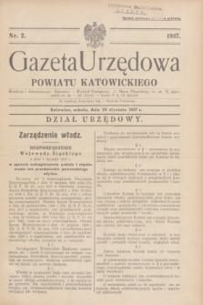 Gazeta Urzędowa Powiatu Katowickiego. 1937, nr 2 (16 stycznia)