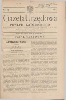 Gazeta Urzędowa Powiatu Katowickiego. 1937, nr 12 (27 marca)