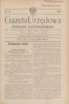 Gazeta Urzędowa Powiatu Katowickiego. 1937, nr 25 (26 czerwca)