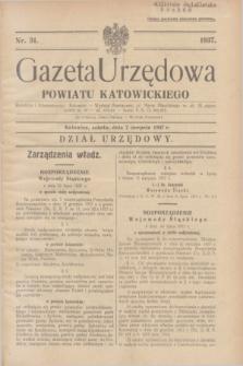 Gazeta Urzędowa Powiatu Katowickiego. 1937, nr 31 (7 sierpnia)