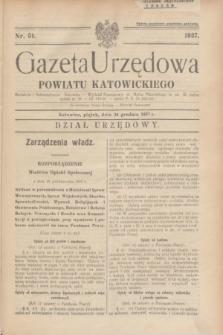 Gazeta Urzędowa Powiatu Katowickiego. 1937, nr 51 (24 grudnia)