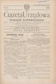 Gazeta Urzędowa Powiatu Katowickiego. 1938, nr 2 (15 stycznia)