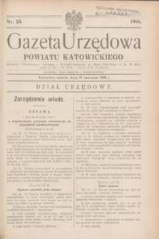 Gazeta Urzędowa Powiatu Katowickiego. 1938, nr 23 (11 czerwca)