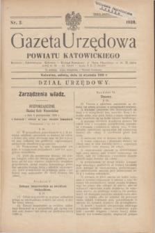Gazeta Urzędowa Powiatu Katowickiego. 1939, nr 2 (14 stycznia)