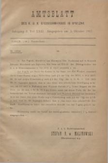 Amtsblatt des K. u. K. Kreiskommandos in Opoczno. Jg.3, Teil 31 (5 Oktober 1917)