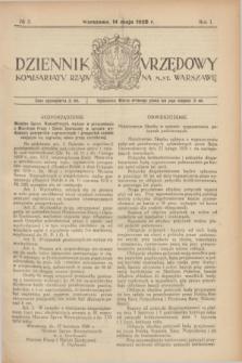 Dziennik Urzędowy Komisarjatu Rządu na M. St. Warszawę. R.1, № 3 (14 maja 1920)