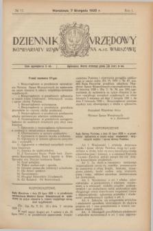Dziennik Urzędowy Komisarjatu Rządu na M. St. Warszawę. R.1, № 17 (7 sierpnia 1920)