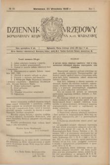 Dziennik Urzędowy Komisarjatu Rządu na M. St. Warszawę. R.1, № 24 (25 września 1920)