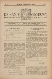 Dziennik Urzędowy Komisarjatu Rządu na M. St. Warszawę. R.1, № 26 (9 października 1920)