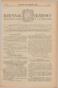 Dziennik Urzędowy Komisarjatu Rządu na M. St. Warszawę. R.1, № 32 (20 listopada 1920)