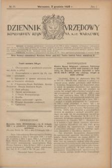 Dziennik Urzędowy Komisarjatu Rządu na M. St. Warszawę. R.1, № 34 (3 grudnia 1920)