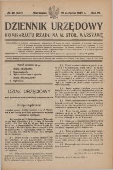 Dziennik Urzędowy Komisariatu Rządu na M. Stoł. Warszawę. R.6, № 59 (18 sierpnia1925) = № 1080