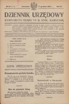 Dziennik Urzędowy Komisariatu Rządu na M. Stoł. Warszawę. R.6, № 94 (17 grudnia 1925) = № 1115