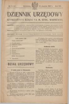 Dziennik Urzędowy Komisarjatu Rządu na M. Stoł. Warszawę. R.8, № 4 (19 stycznia 1927) = № 1221