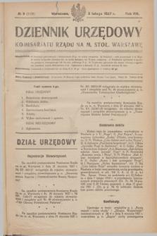 Dziennik Urzędowy Komisarjatu Rządu na M. Stoł. Warszawę. R.8, № 9 (5 lutego 1927) = № 1226