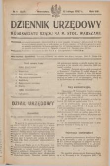 Dziennik Urzędowy Komisarjatu Rządu na M. Stoł. Warszawę. R.8, № 11 (12 lutego 1927) = № 1228