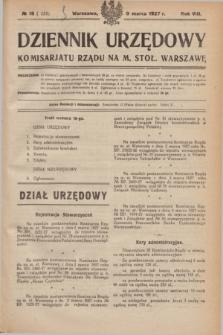 Dziennik Urzędowy Komisarjatu Rządu na M. Stoł. Warszawę. R.8, № 18 (9 marca 1927) = № 1235