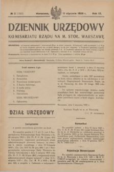 Dziennik Urzędowy Komisarjatu Rządu na M. Stoł. Warszawę. R.9, № 2 (11 stycznia 1928) = № 1307