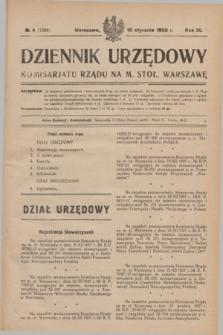 Dziennik Urzędowy Komisarjatu Rządu na M. Stoł. Warszawę. R.9, № 4 (18 stycznia 1928) = № 1309