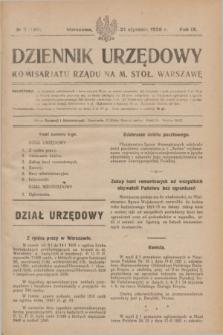 Dziennik Urzędowy Komisarjatu Rządu na M. Stoł. Warszawę. R.9, № 5 (21 stycznia 1928) = № 1301