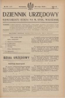Dziennik Urzędowy Komisarjatu Rządu na M. Stoł. Warszawę. R.9, № 32 (30 maja 1928) = № 1337