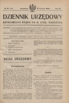 Dziennik Urzędowy Komisarjatu Rządu na M. Stoł. Warszawę. R.9, № 34 (6 czerwca 1928) = № 1339