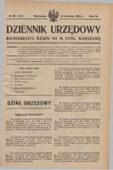 Dziennik Urzędowy Komisarjatu Rządu na M. Stoł. Warszawę. R.9, № 35 (13 czerwca 1928) = № 1340