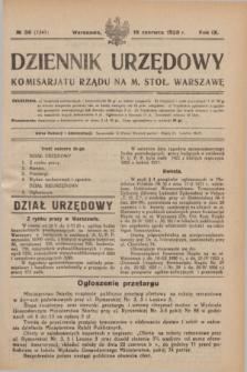 Dziennik Urzędowy Komisarjatu Rządu na M. Stoł. Warszawę. R.9, № 36 (16 czerwca 1928) = № 1341