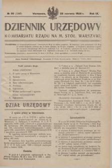 Dziennik Urzędowy Komisarjatu Rządu na M. Stoł. Warszawę. R.9, № 38 (23 czerwca 1928) = № 1343