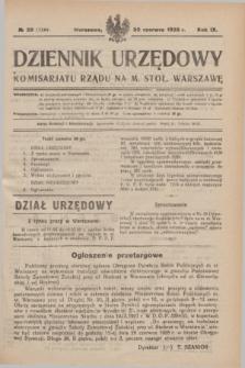 Dziennik Urzędowy Komisarjatu Rządu na M. Stoł. Warszawę. R.9, № 39 (30 czerwca 1928) = № 1344