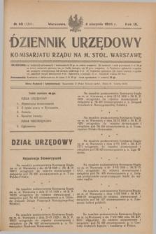 Dziennik Urzędowy Komisarjatu Rządu na M. Stoł. Warszawę. R.9, № 46 (4 sierpnia 1928) = № 1351