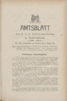 Amtsblatt des K. u. K. Kreiskommandos in Noworadomsk. 1917, Stück 14 (17 August)