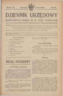 Dziennik Urzędowy Komisarjatu Rządu na M. Stoł. Warszawę. R.7, № 50 (3 lipca 1926) = № 1168