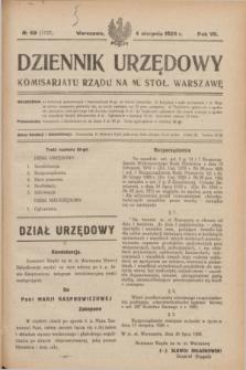 Dziennik Urzędowy Komisarjatu Rządu na M. Stoł. Warszawę. R.7, № 59 (4 sierpnia 1926) = № 1177