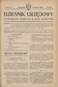 Dziennik Urzędowy Komisarjatu Rządu na M. Stoł. Warszawę. R.7, № 93 (4 grudnia 1926) = № 1211