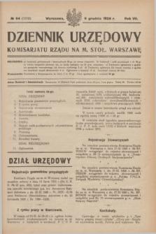Dziennik Urzędowy Komisarjatu Rządu na M. Stoł. Warszawę. R.7, № 94 (9 grudnia 1926) = № 1212