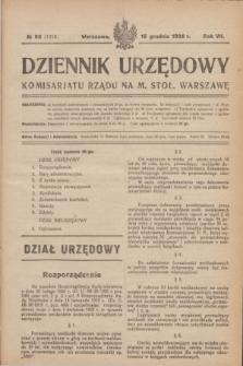Dziennik Urzędowy Komisarjatu Rządu na M. Stoł. Warszawę. R.7, № 96 (15 grudnia 1926) = № 1214