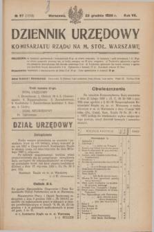 Dziennik Urzędowy Komisarjatu Rządu na M. Stoł. Warszawę. R.7, № 97 (22 grudnia 1926) = № 1215