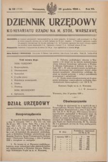 Dziennik Urzędowy Komisarjatu Rządu na M. Stoł. Warszawę. R.7, № 98 (29 grudnia 1926) = № 1216