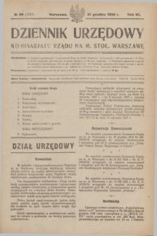 Dziennik Urzędowy Komisarjatu Rządu na M. Stoł. Warszawę. R.7, № 99 (31 grudnia 1926) = № 1217